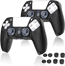 Hianjoo 10 Pack Controller Accessories Compatible with Sony PS5, 2 PCS Non-slip Handle Silicone Protective Cover Skin with...