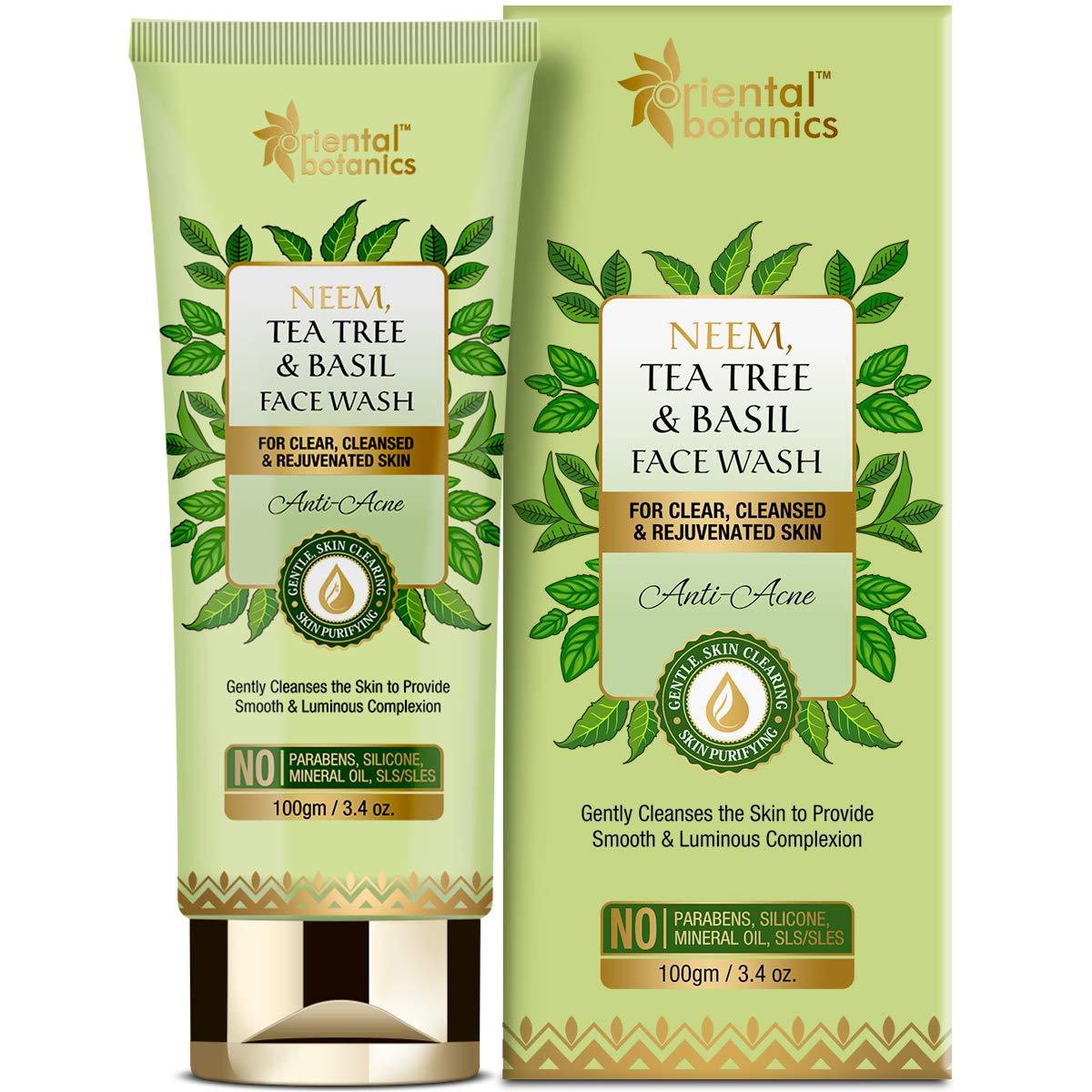 Oriental Botanics Neem Tea Tree Easy-to-use And Max 72% OFF Basil Wash Acne - Face Anti