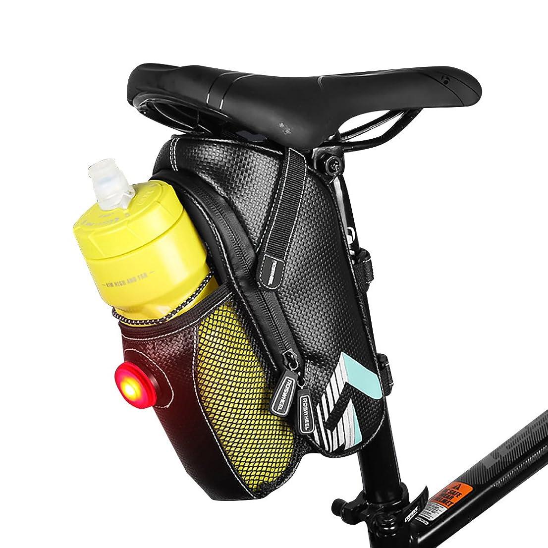 殺人者致死政府fansportバイクシートバッグ自転車ボトルバッグ防水ポータブルマウンテンバイクバッグwith LEDライト