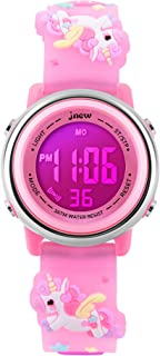 Kids Watches Girl Watches Ages 3-12 Sports Waterproof 3D Cute Cartoon Digital 7 Color Lights Wrist Watch for Kids