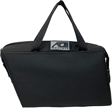 AO Coolers 18 Pack Saddle Bag USA Made, Black Canvas (AOUS18MOTO)