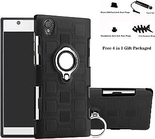 Xperia L1 / E6 case,Labanema Hybrid Dual Layer 360 Degree Rotation Ring Holder Kickstand Armor Slim Protective Cover for Sony Xperia L1 / E6 - Black