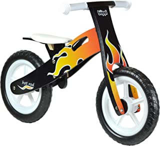 Boppi Kids Wooden Balance Bike - 3, 4 and 5 Years - Flame