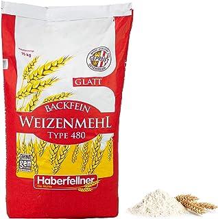 Weizenmehl 25kg Typ 405 glatt von Haberfellner | Hochwertiges Mehl zum Backen und Kochen - ohne Gentechnik und pestizid-kontrolliert | Geeignet als Keksmehl, Kuchenmehl und für Feingebäck