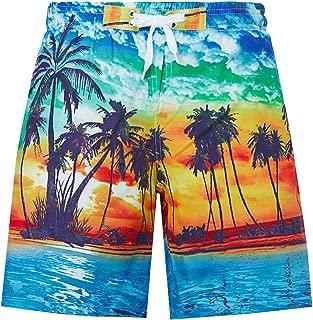 Idgreatim Teen Boys Funny Swim Trunks Quick Dry Beachwear Shorts Waterproof Mesh Swimwear Bathing Suits 7-14 Years