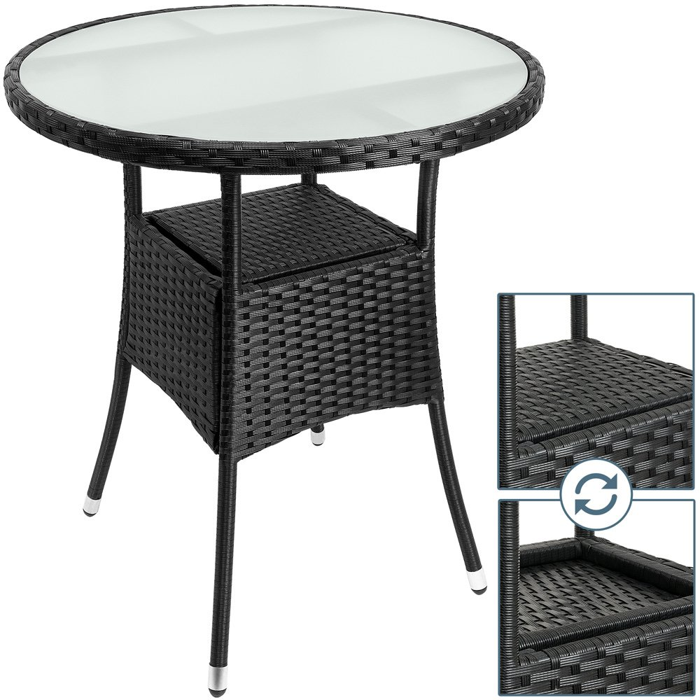 Sobuy Ogt13 Sch Outdoor Metal Rattan Side Table End Table Sofa