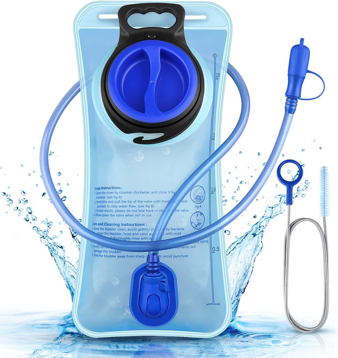 BMSZW Bolsa De Agua,Prueba de Fugas 2L Bolsa De Agua,Antibacteriano de Gran Apertura Mochila de hidratación, Senderismo, Escalada, Ciclismo, Senderismo y Camping