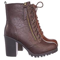 976e17adb939a Women s Fashion Zipper Platform Chunky Heel Ankle Boots - Boots ...