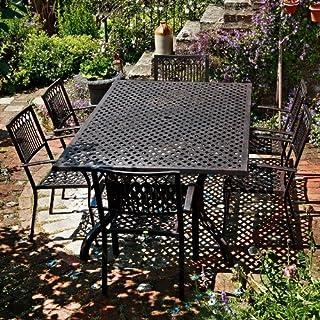Lazy Susan Sophia 200 x 120cm Rechtickiges Gartenmöbelset - 1 SOPHIA Tisch + 6 MARY Stühle