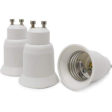 Crown Led 3x Lampensockel Adapter Konverter Weiß Gu10 Fassung Auf E27 Sockel Lampenadapter Lampensockeladapter Für Led Halogen Energiespar Lampen Beleuchtung