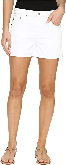 Hailey Boyfriend Shorts in White