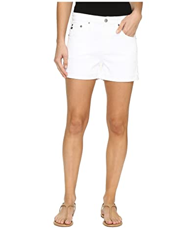 AG Adriano Goldschmied Hailey Boyfriend Shorts in White (White) Women