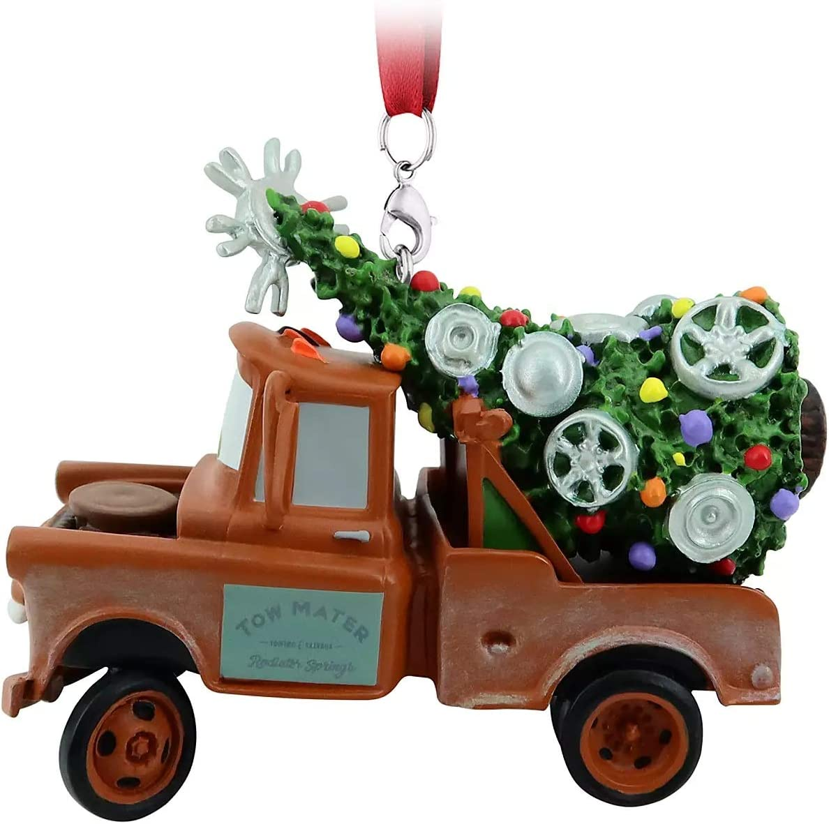 Mater Topics on TV Christmas Ornament with Tree Fashion Back on