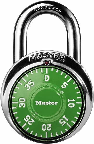 Master Lock 1505D Locker Lock Combination Padlock 1 Pack Assorted Colors