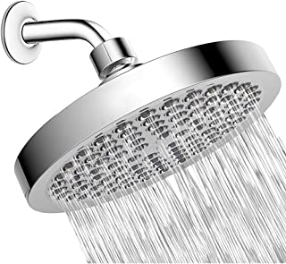 6inch Shower Head High Pressure Rain Modern Chrome Look Easy Tool Free Installation Adjustable Replacement For Your Bathro...