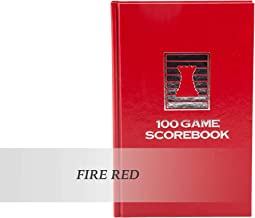 The House of Staunton Luxury Hardcover Chess Scorebook - by US Chess Federation (Fire Red)