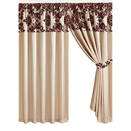 Eastbourne Burgundy Damask Pencil Pleat Fully Lined Curtains