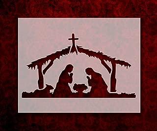Baby Jesus Bethlehem Manger Christmas 11 x 8.5 Inches Stencil (51)
