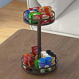 Étagère d'organisateur d'armoire de cuisine - 24 * 20,3 * 38cm 360 Support de pot à épices rotatif Assaisonnement de cuisi...