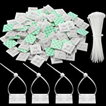 150 Pieces Zip Tie Adhesive Mounts Self Adhesive Cable Tie Base Holders with Multi-Purpose Clip Zip Tie 150 mm in Length, 2 cm in Width (White)