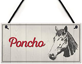 Cheyan Personalised Horse Pony Name Plate Stable Door Hanging Plaque Custom Barn Sign