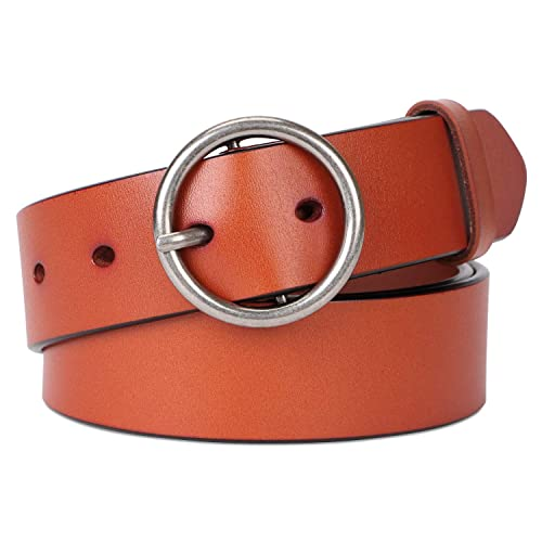 New Fashion  Leather belt  youth leather pants men/'s belt with Round bee buckle