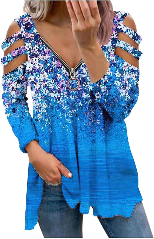 FABIURT Womens Blouse Top,Women's Tunic Classic Fit Long Sleeve Sweatshirt Comfy Plus Size Tshirts Fashion Tees Shirts