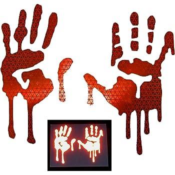 Keen Bloody Hand Print Vinyl Decal Sticker Zombie Horror Car Window Laptop 5 X 3.75
