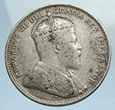 1907 CA 1907 CANADA 25 CENTS UK King Edward VII w Crown G coin Good Uncertified