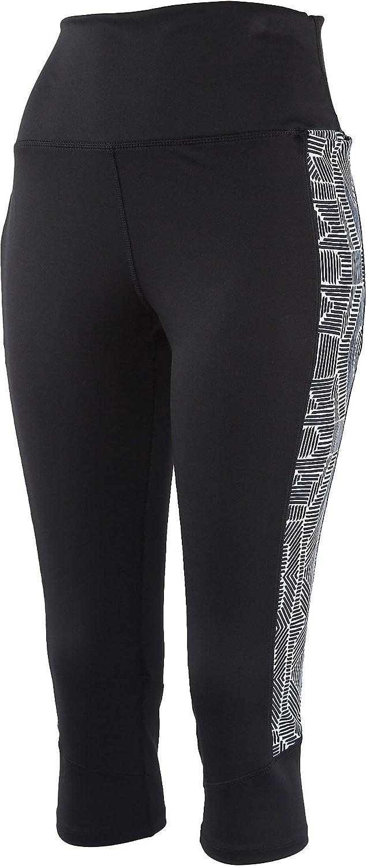 Reel Legends Womens Comfort Capri Leggings Medium Black