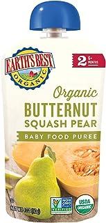 Earth's Best Organic Butternut Squash Pear Puree, 6 Months, 12 x 120 gm