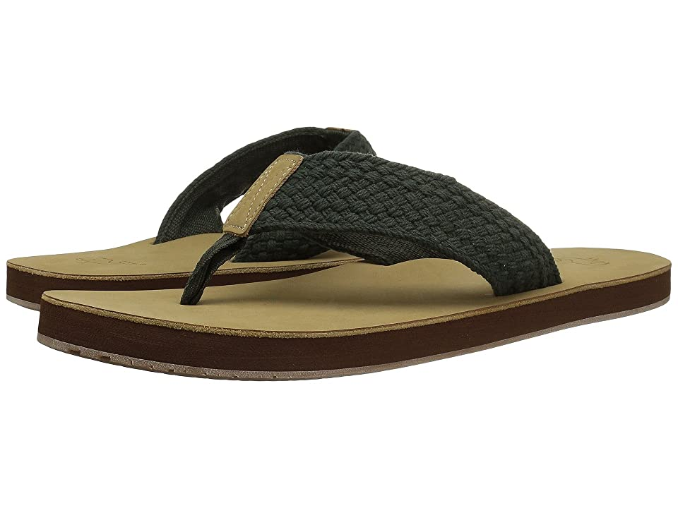 128e472ea615b Vineyard Vines Washed Webbing Flip Flop (Dark Olive) Men s Sandals