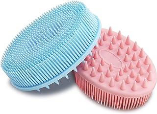 cepillo para polvo de baño suave de silicona para el cuerpo único de Loofah Boieusa Scrubber guante de ducha spa, gimnasio...
