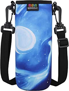 Nuovoware Water Bottle Carrier, Premium Neoprene Portable Insulated Water bottle Holder Bag 1000ML with Adjustable Shoulde...