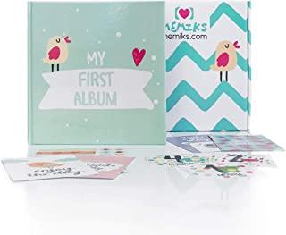 Baby Memory Book with Extra Stickers & Cards | Cute Newborn Milestone Scrapbook | Baby Keepsake Book for Newborns & Infants | Colorful Baby Journal Photo Album | Perfect Baby Shower Gift | (Unisex)