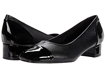 Trotters Daisy (Black Leather/Patent Leather) Women