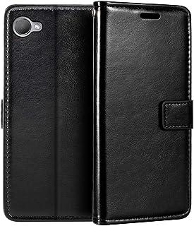 جراب محفظة HTC Desire 12، جراب قلاب مغناطيسي من الجلد الصناعي الممتاز مع حامل بطاقات ومسند لهاتف HTC Desire 12