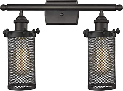Innovations 516-2W-OB-220-LED 2 Light Vintage Dimmable LED Bathroom Fixture, Oil Rubbed Bronze