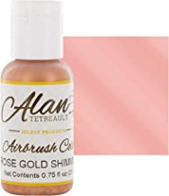 Rose Gold Shimmer Premium Airbrush Food Color, 3/4 Ounce by Chef Alan Tetreault