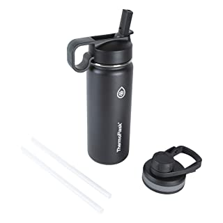 Thermoflask Double Stainless Steel Insulated Water Bottle, 18 oz, Black