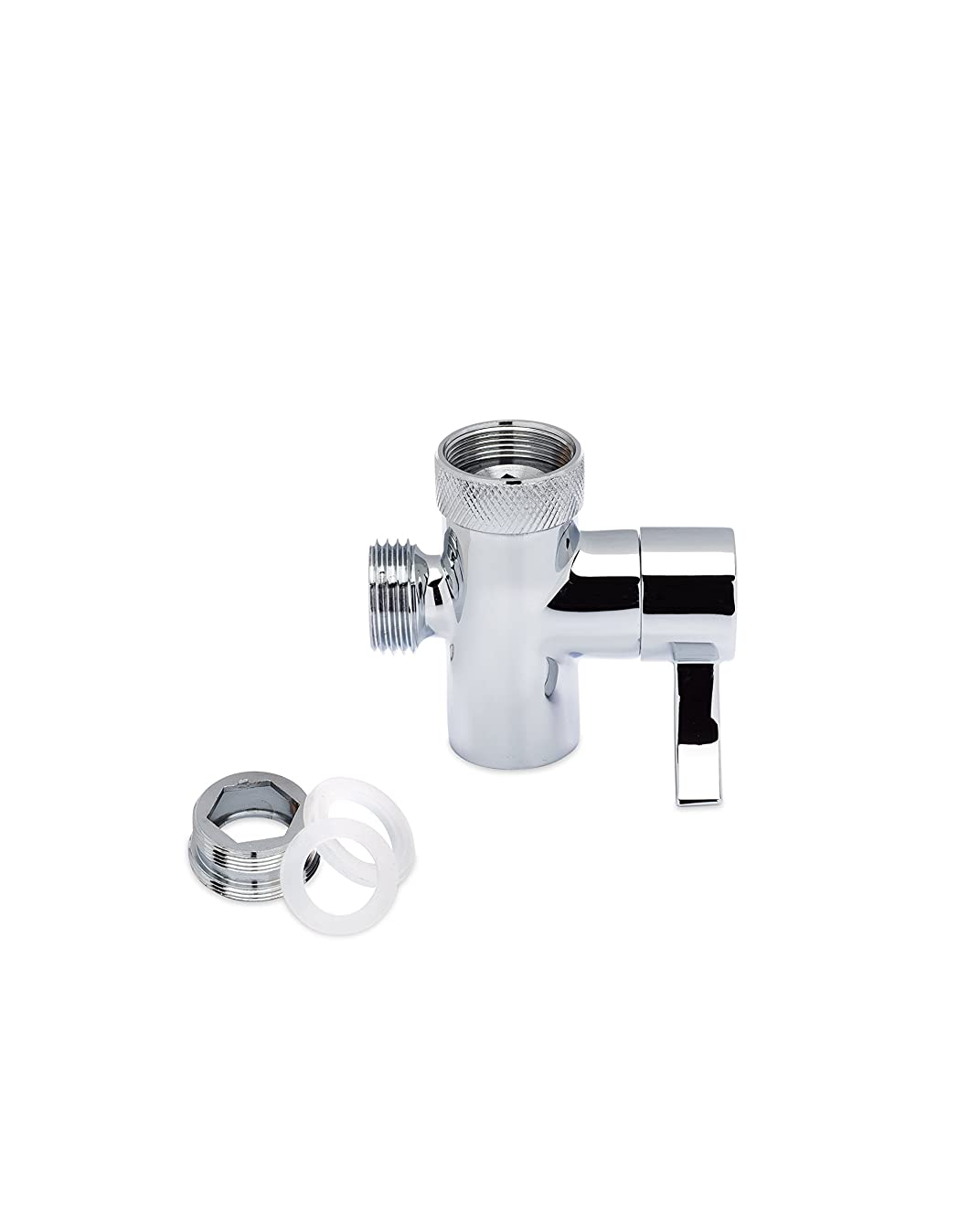SmarterFresh Faucet Diverter Valve With Aerator and Male Threaded Adapter, Faucet Adapter for Hose Attachment, Faucet Connector for Water Diversion
