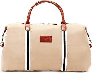 Saint Maniero Design Reisetasche mit extra Laptopfach – recyceltes Material – mehrere Außen- und Innentaschen – wasserabweisend Sandfarben
