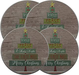 Oh Tannenbaum - Christmas/Holiday Electric Stove Burner Kovers - 4 Pack