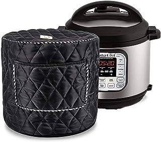 Tapa instantánea Cubierta Protectora contra el Polvo para Olla de presión eléctrica Electrodomésticos de Cocina Accesorios 6qt (Color : Black)