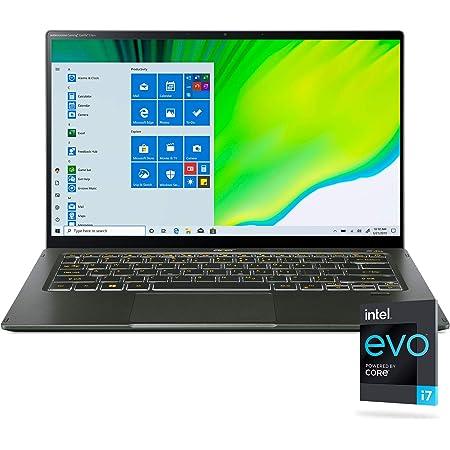 Acer Swift 5 Intel Evo 薄型&軽量ノートパソコン 14インチ フルHD タッチ Intel Core i7-1165G7 Intel Iris Xe Graphics 16GB LPDDR4X 1TB NVMe SSD Wi-Fi 6 FPRバックライトKB抗菌 SF514-55TA-74EC