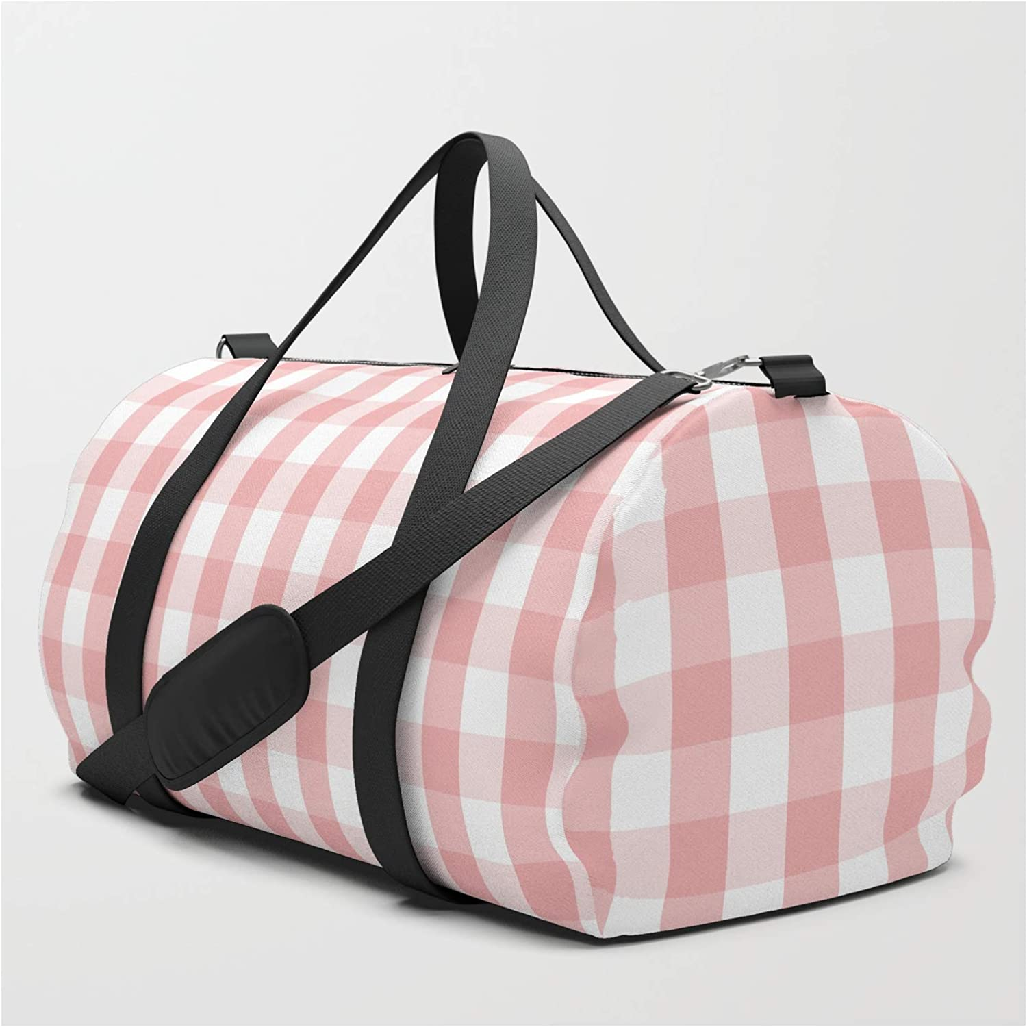 Society6 Large Lush Blush Pink Max 49% OFF and by Gingham Max 81% OFF White Honor Check