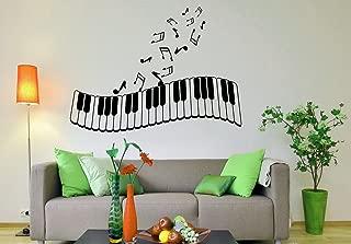 Piano Keys Wall Decal Musical Instrument Vinyl Sticker Music Home Interior Wall Art Murals Housewares Design 16(poc)