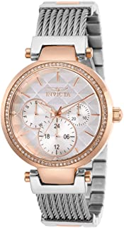 Invicta Women's Angel Quartz Stainless-Steel Strap, Silver, 18 Casual Watch (Model: 28922)