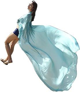 FELIX & SiLK Mujer Niña Color Sólido Camisolas Sarong Pareo Bufanda Wrap Estolas Chales Protección Solar UV Playa Ropa de baño Vacaciones