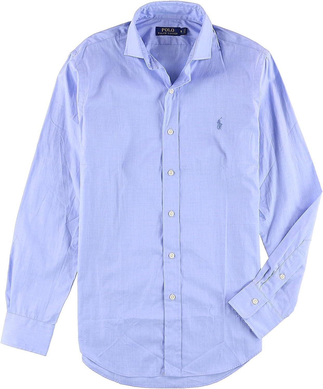早割クーポン Polo Ralph Lauren Mens Long Woven Button Shirt WEB限定 Up Sleeve